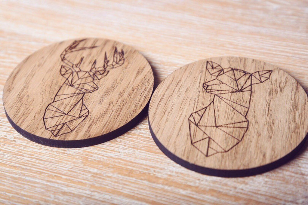 His & Hers Stag Coasters - HomeCreationss