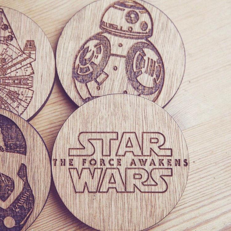 Force Awakens set of 6 Coasters (Star Wars Inspired) - HomeCreationss