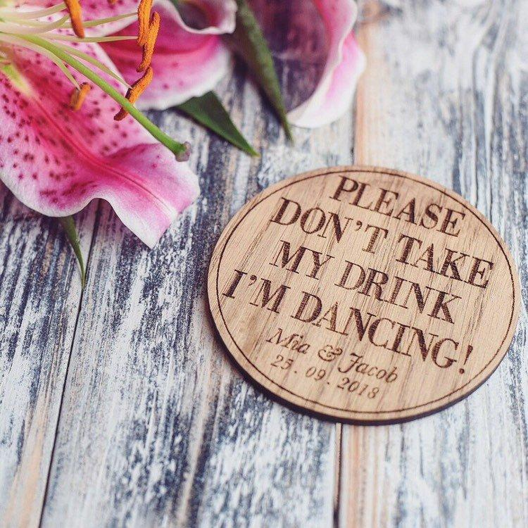 Personalised Please Don't Take My Drink Coaster - HomeCreationss