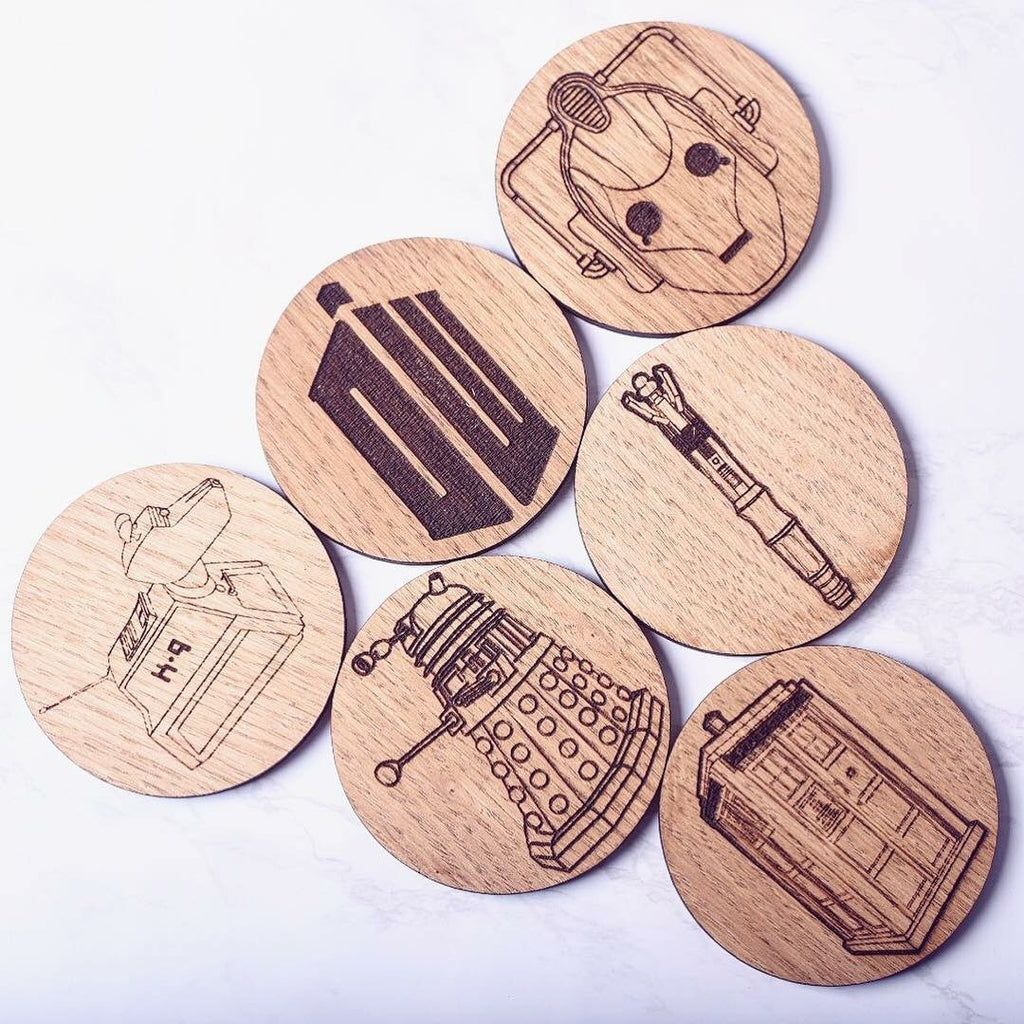 Doctor Who Inspired Wooden Coasters - HomeCreationss