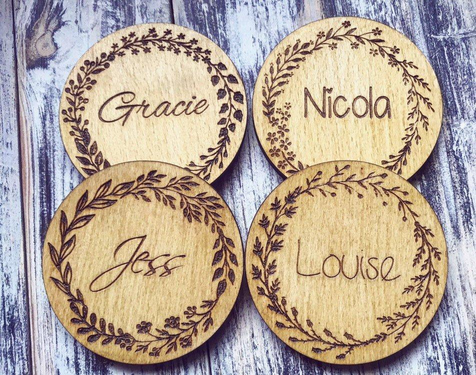 Floral Design Personalised Coaster - HomeCreationss