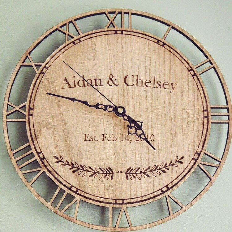 Personalised Couple Anniversary Date Clock - HomeCreationss