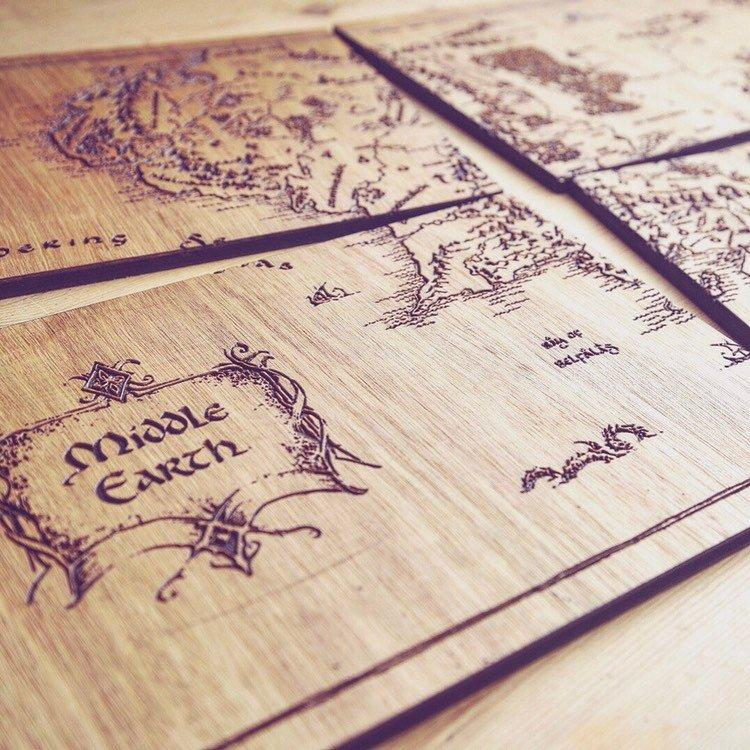 Middle Earth Place Mats (Lord Of The Rings & Hobbit Inspired) - HomeCreationss