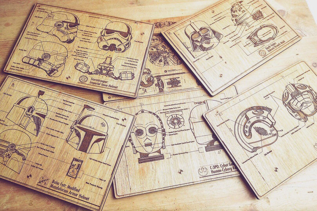 Star Wars Inspired Blueprint Place Mats - HomeCreationss