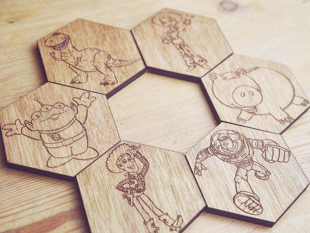Toy Story Inspired Hexagonal Coasters Set of 6 - HomeCreationss