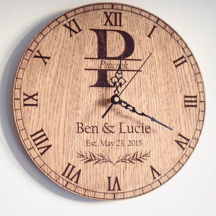 Personalised Couple Anniversary Date Clock-Maison Creations