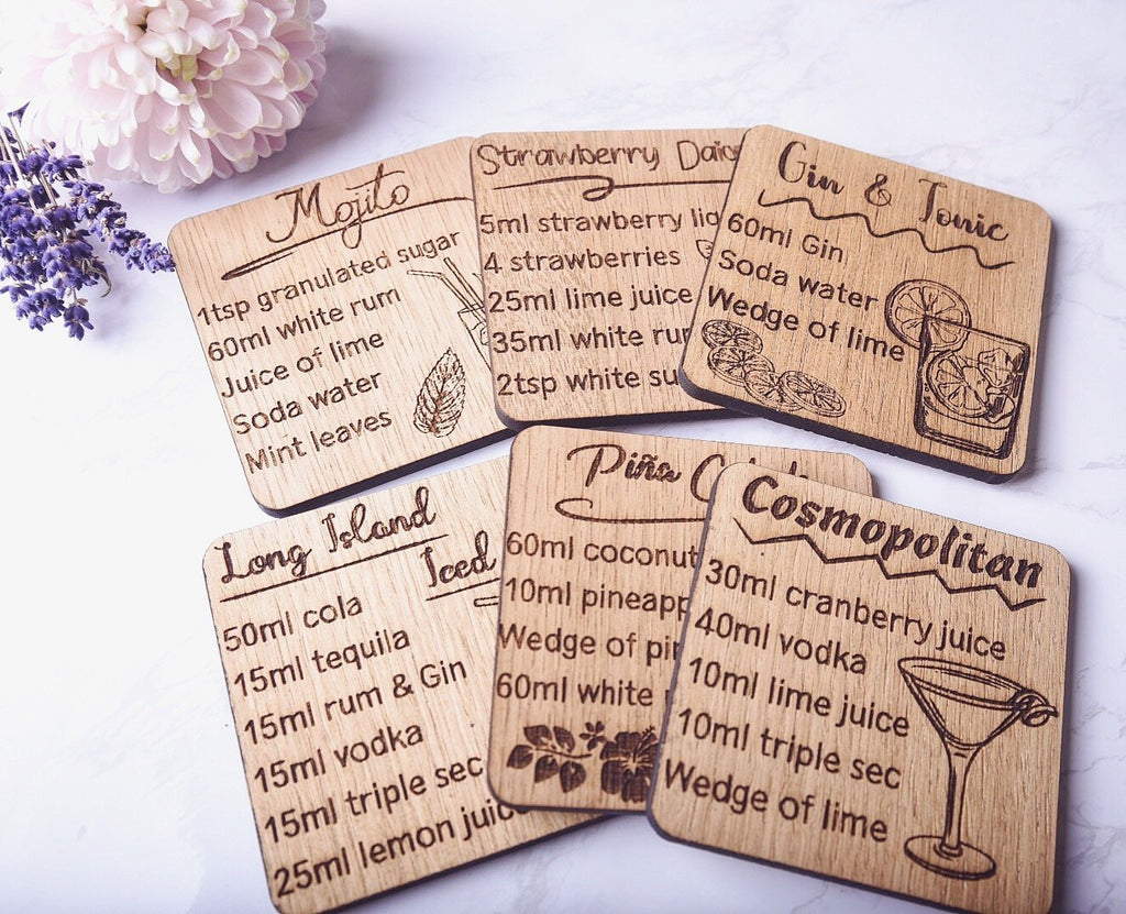 Cocktail Recipe Coaster - HomeCreationss