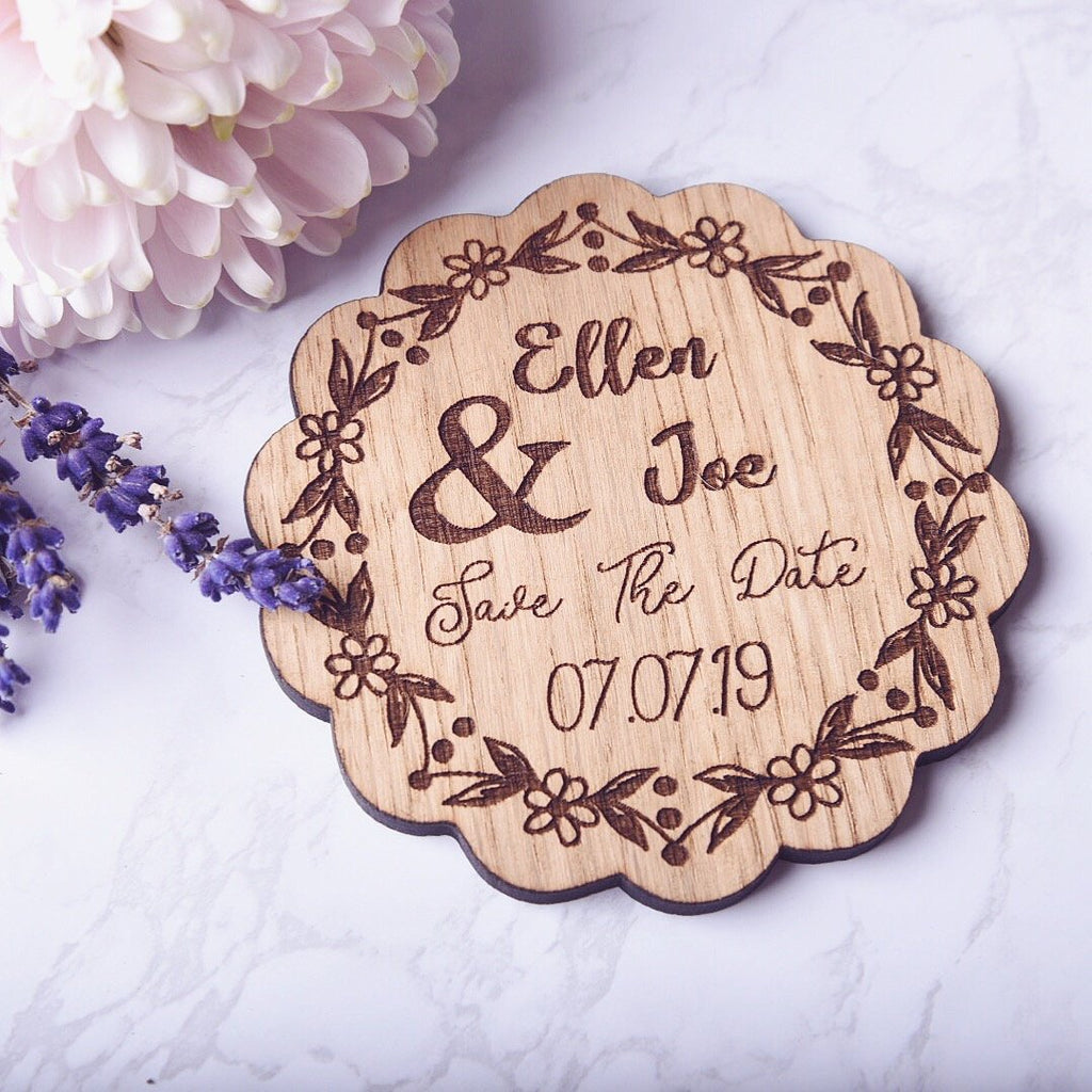 Personalised Wedding Save The Date - HomeCreationss