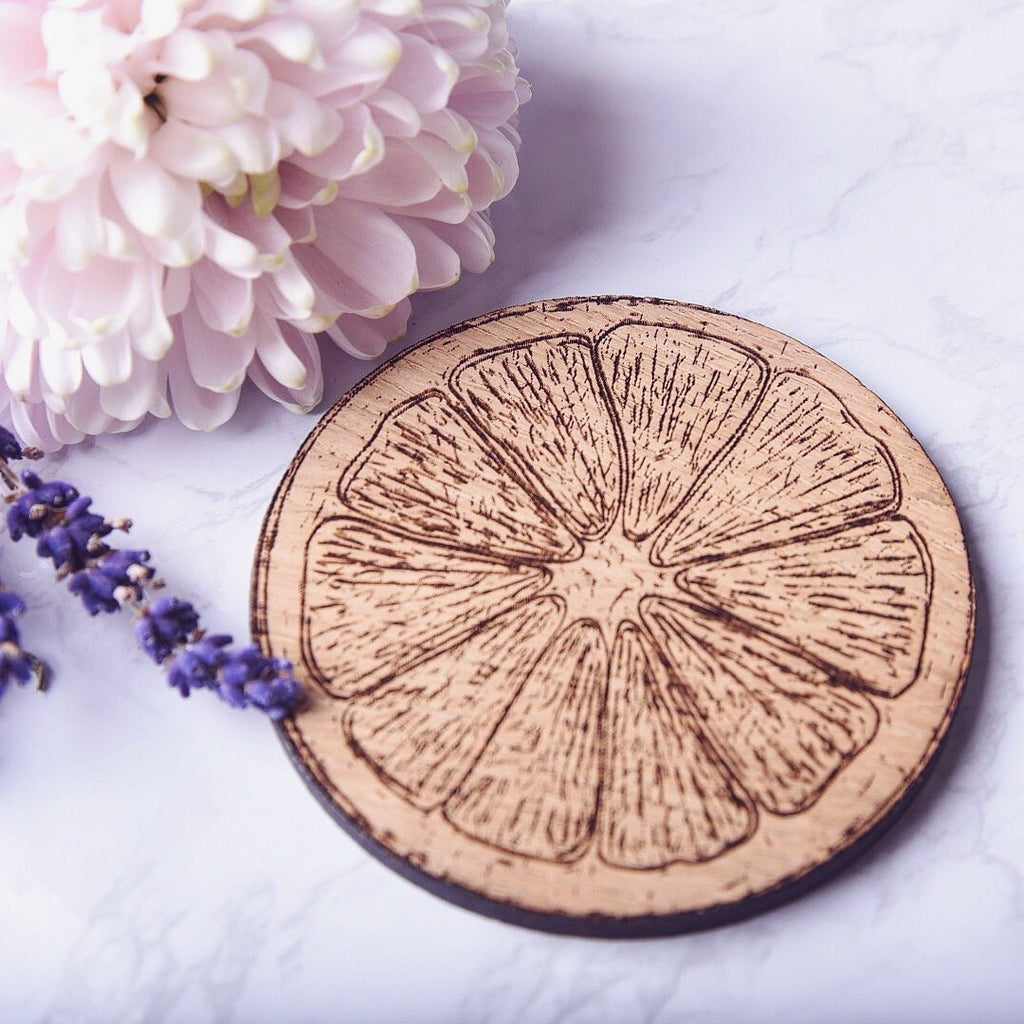 Orange Slice Wooden Coaster - HomeCreationss