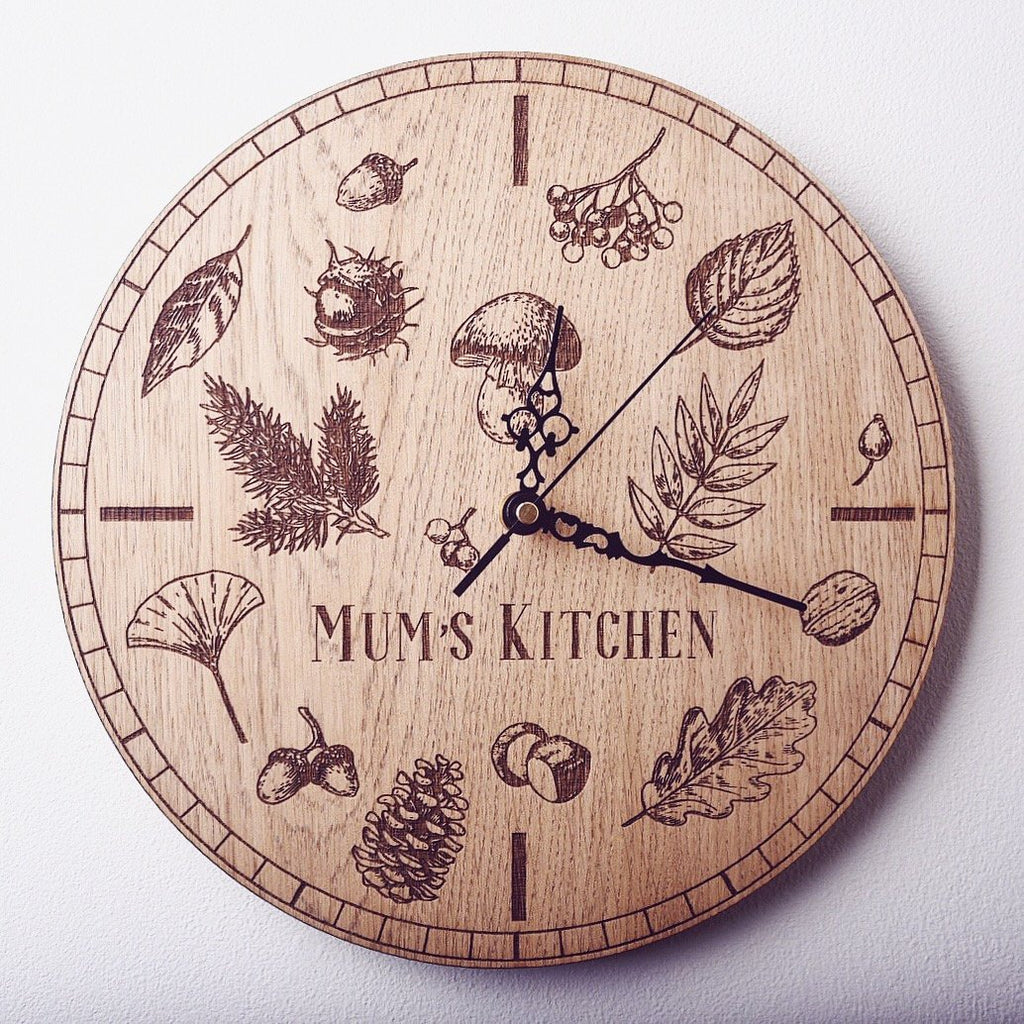 Personalised Nature Clock - HomeCreationss