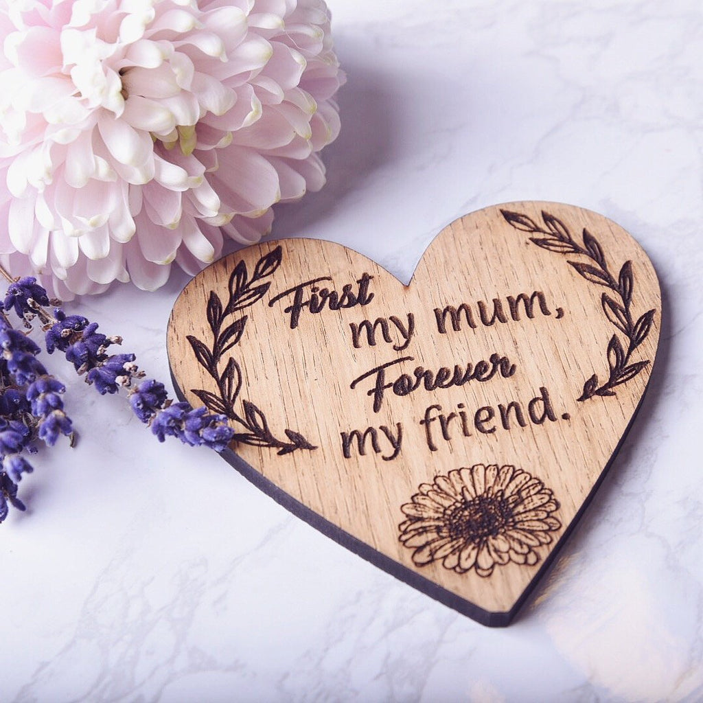 First my mum, Forever my friend Fridge Magnet - HomeCreationss