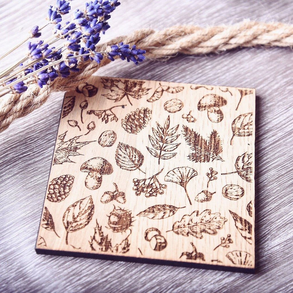 Nature inspired Wooden Coaster - HomeCreationss