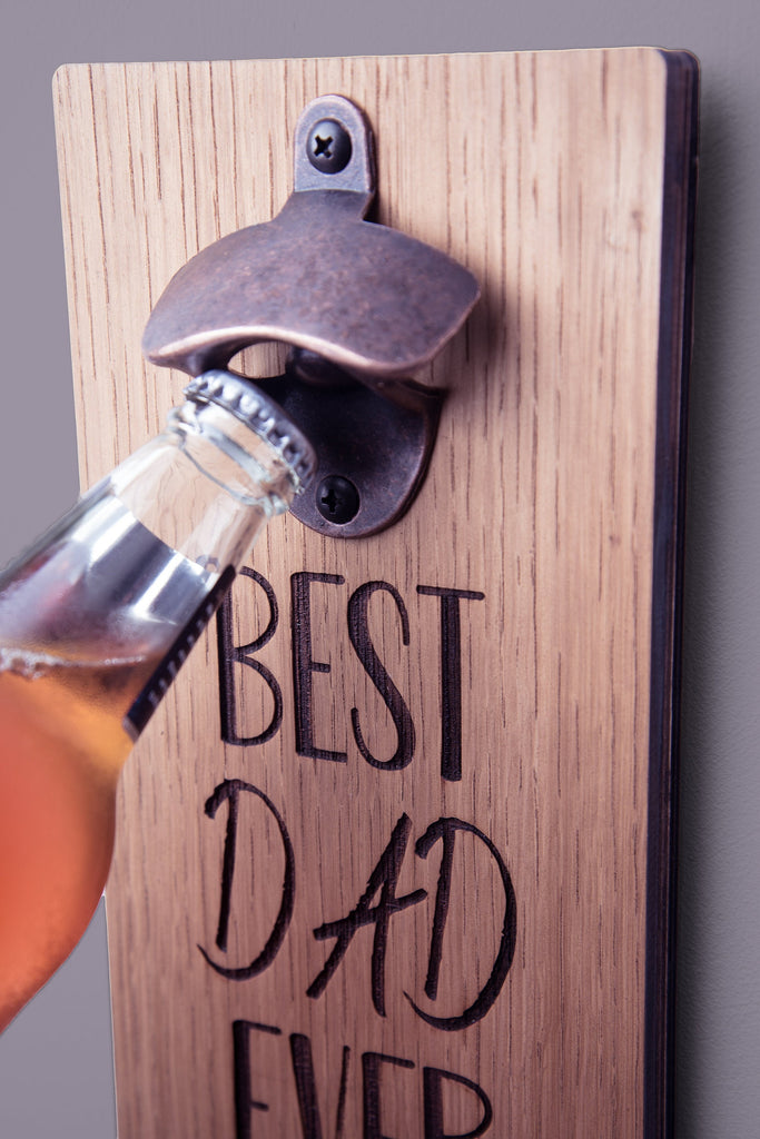 Best Dad Ever Bottle Opener | Fathers Day Gift Idea | Gift For Dad | Birthday Gift For Dad | Birthday Gift For Him | Gift For Him |