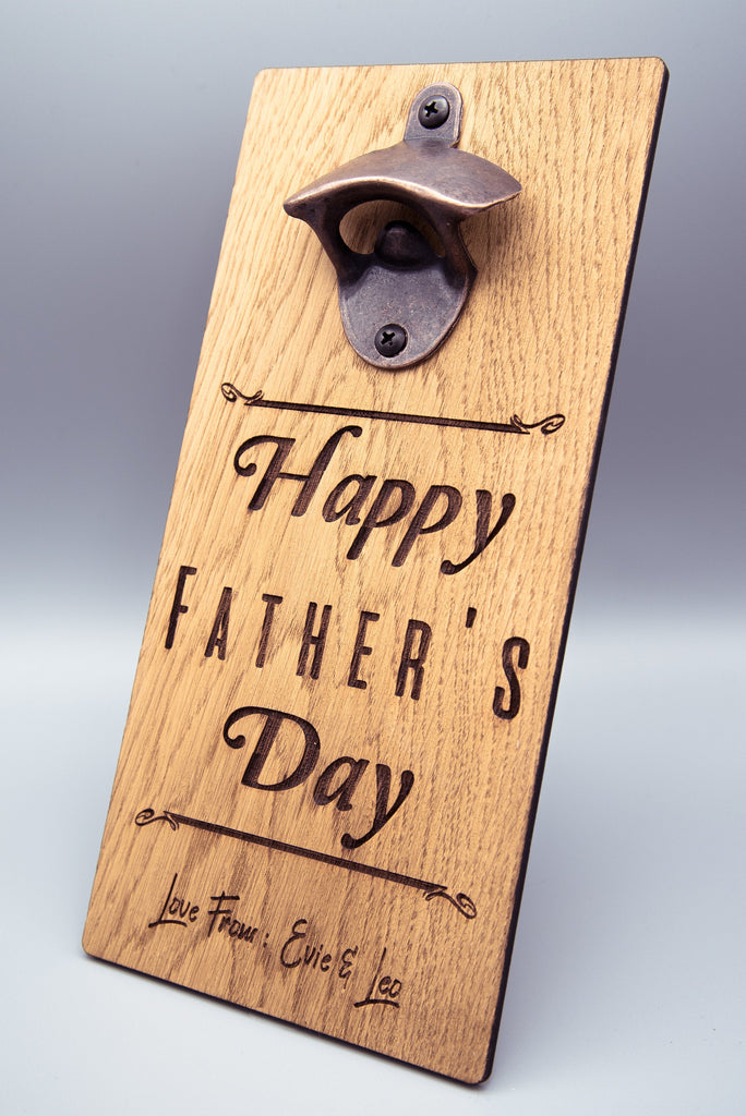 Personalised Father's Day Bottle Opener | Gifts For Dad | Gifts For Him | Dads Man Cave Gifts | Fathers Day Gift Ideas | Beer Bottle Opener
