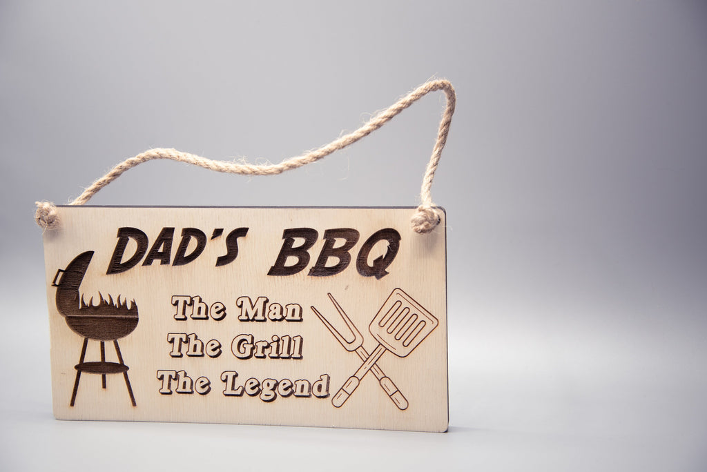 Wooden Dad Signs - Dad's Shed, Dad's BBQ, Fathers Day gift, Fathers Day gift idea, Man Cave sign