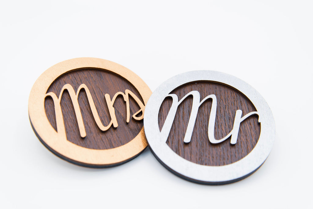 Mr & Mrs Coasters - Couple's Gift - Just Married Gift - Wedding Gift - Bride And Groom - Wooden Coasters - Lockdown Wedding Gift