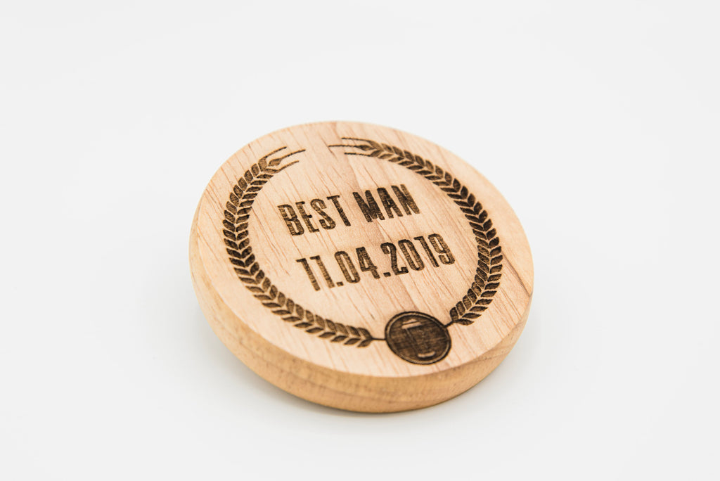 Personalised Best Man Magnetic Bottle Opener (Luxurious Wedding Favour For Guests From The Bride And Groom, Wedding Gift)