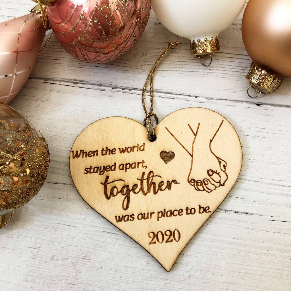 Couples Bauble 2020 | Covid Christmas Gift | Cute Christmas 2020 | The Year Of Lockdown Decoration | When The World Stayed Apart | Bauble