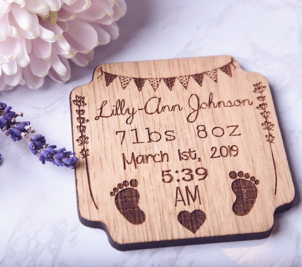 Personalised New Born Baby Fridge Magnet | Unique & Thoughtful New Born Baby Gift Ideas | New Born Baby Details | Personalised Keepsake