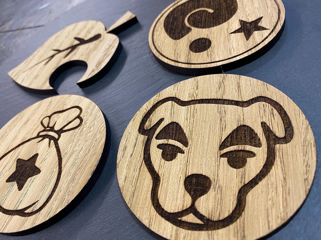 Animal Crossing Wooden Coaster | Animal Crossing Lover | Animal Crossing Gift Idea | Animal Crossing Fan | Laser Engraved Gifts