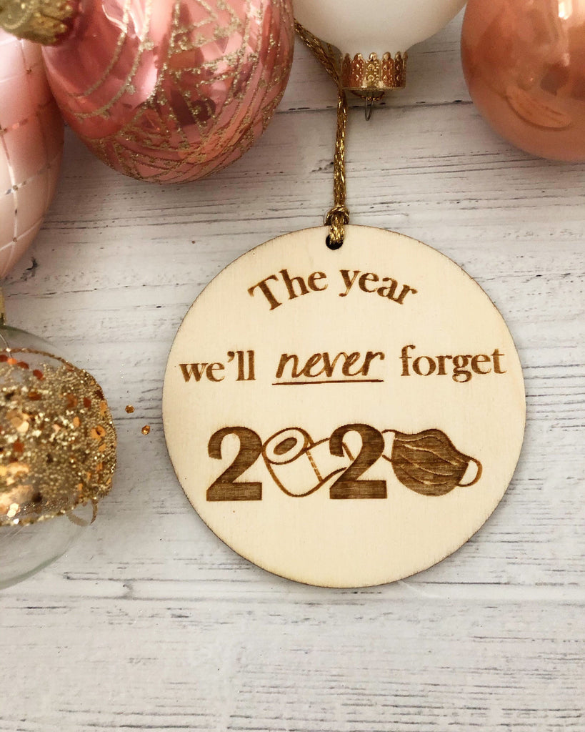 Christmas 2020 Novelty Bauble | COVID-19 Bauble | The Year We'll Never Forget | Funny Christmas Gift 2020 | Toilet Roll | Face Mask | Xmas