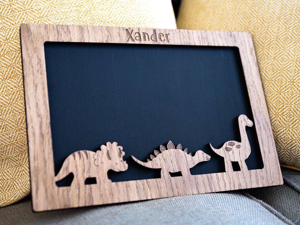 Children's Personalised Chalkboard | Dinosaur Themed Gift | Learn To Write | Learn To Draw | Gift For | Chalkboard | Gift For Boy Or Girl