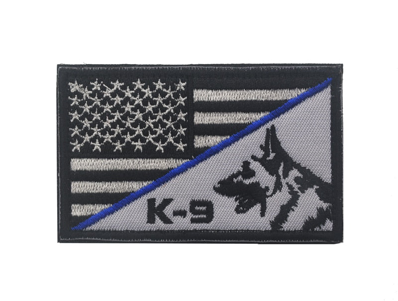 K-9 German Shepherd USA Badge Patch - K-9 Rescue Shop