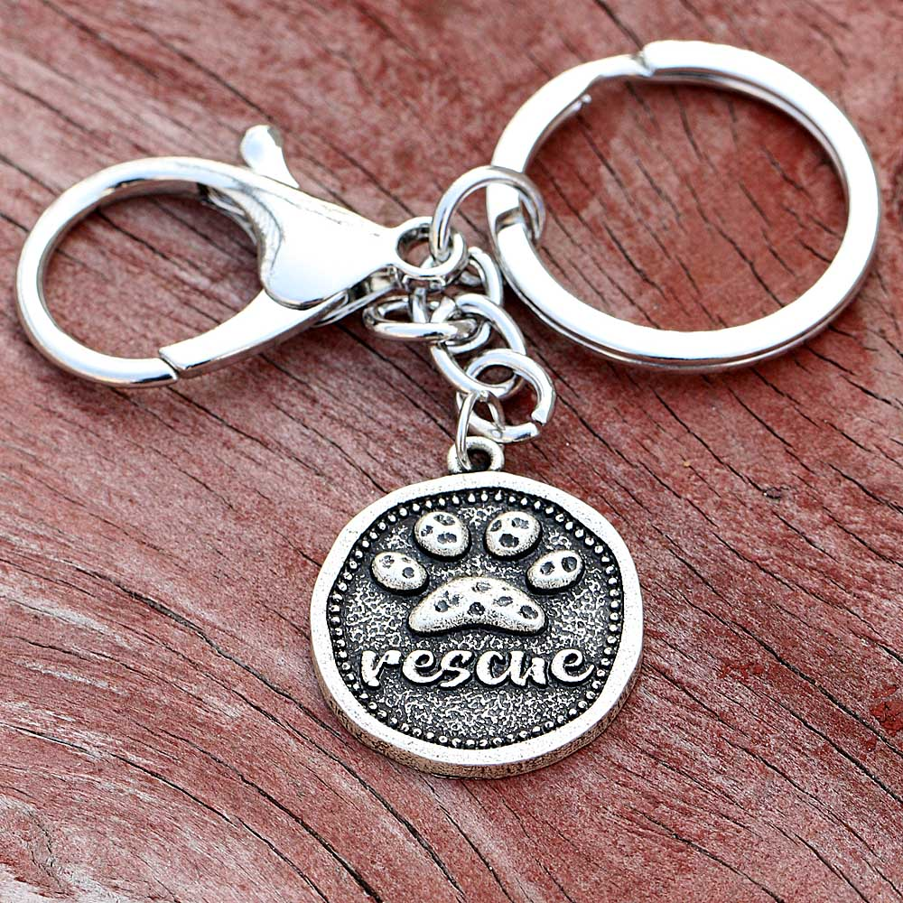 Vintage Dog Rescue Key chain - K-9 Rescue Shop