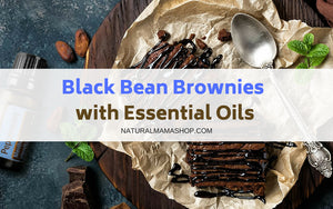 black bean brownies with essential oils