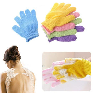 1PairShower Gloves Exfoliating Wash Skin Spa Bath