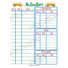Easy Homeschool Planner activities