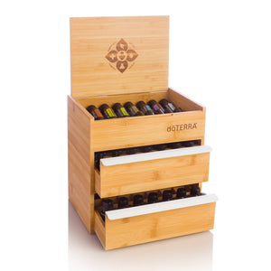 Bamboo Box Double Drawer
