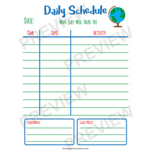 Easy Homeschool Planner daily schedule