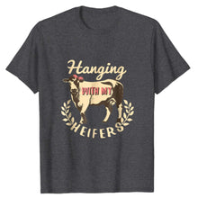 Hanging with my Heifers T-shirt heather grey