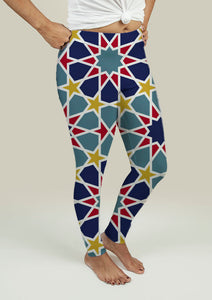 Leggings with Arabesque Pattern
