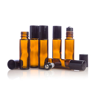 10 mL Amber Roller Bottle