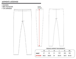 Leggings with Drum Set Pattern