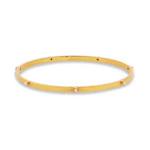 Crescent Bangle Gold Pearl- Medium