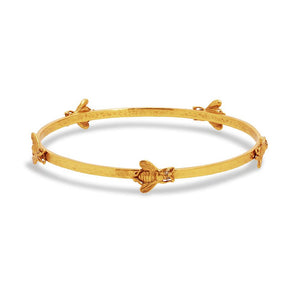Bee Bangle Gold CZ - Medium
