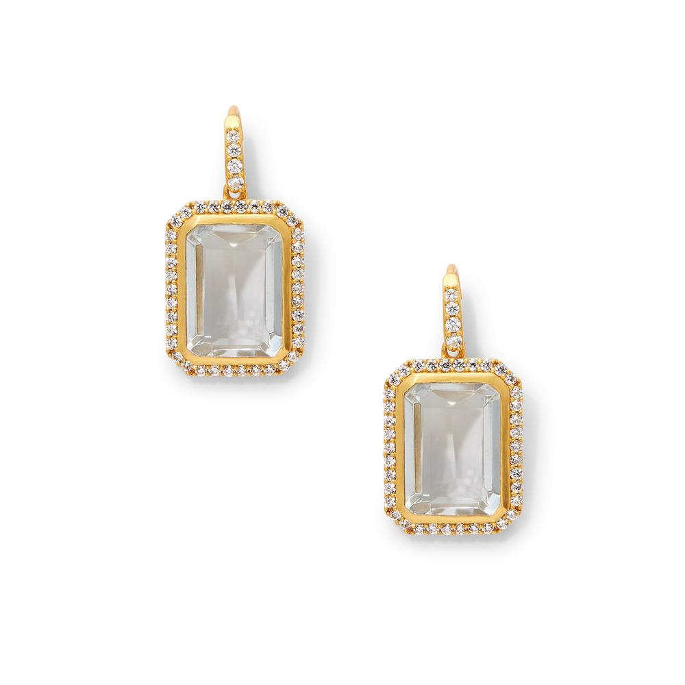 Clara Luxe Earring Clear Crystal