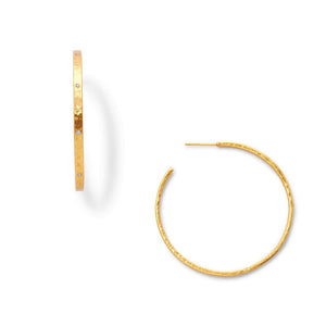 Crescent Hoop Gold Zircon M