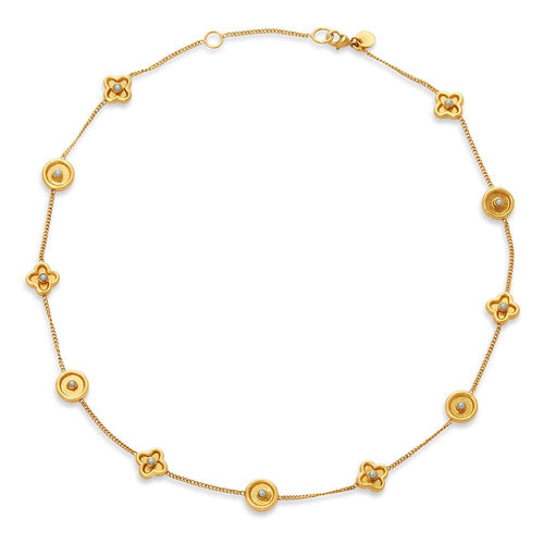 Daphne Delicate Necklace Gold Pearl