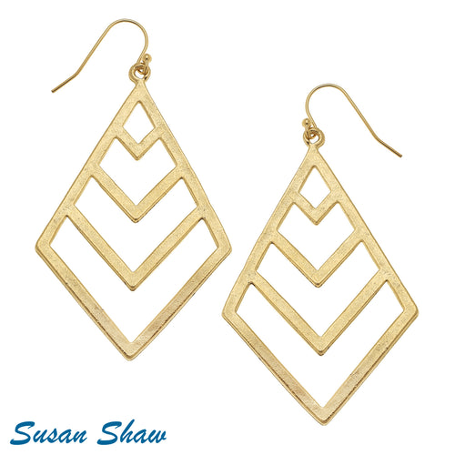 Gold Filigree Cut Out Earrings