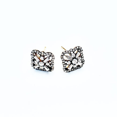 Baguette Clover 18kt Yellow Gold and BR Studs