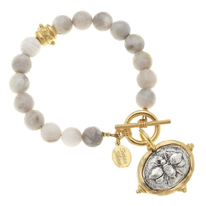 Gold & Silver Bee Silver Lace AGT Bracelet
