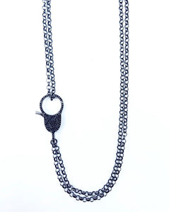 "36"" Chain With Black Spinel Clasp"