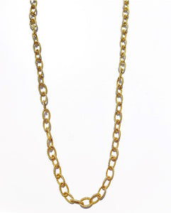 "18"" Gold Chain Link Necklace"