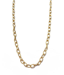 "30"" Gold Chain Link Necklace"