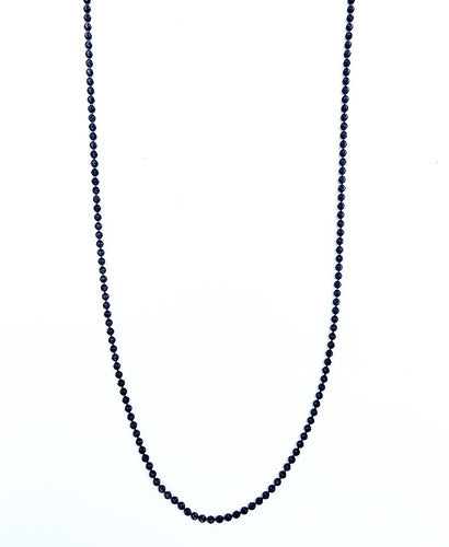 Black Ruthenium Moon Cut Bead Chain