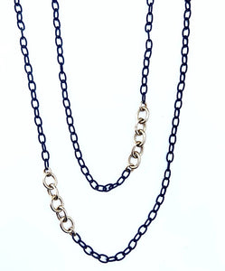 Emerson Chain with Gold Links 36""